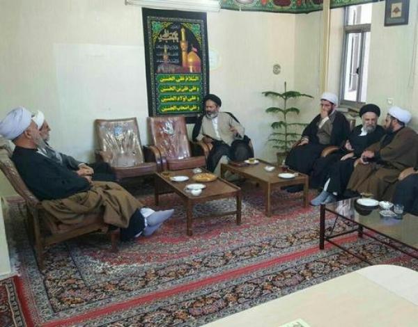 دیدار هیئت اعزامی از شورای عالی حوزه علمیه قم با آیت الله اسلامی