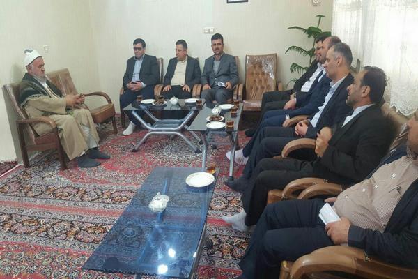 دیدار با فرماندار سابق شهرستان تاکستان
