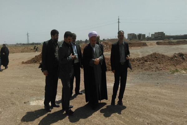 بازدید از پل کمربندی شهرستان تاکستان